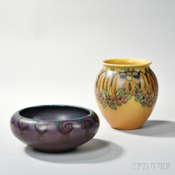 Rookwood Pottery Vase and Bowl