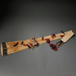 Athabascan Cloth and Caribou Hide Rifle Scabbard