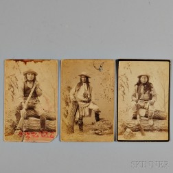Three Photographs of Apache Scouts