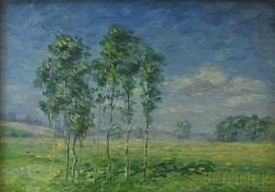 Leighton R. Cram (American, 1895-1981)      Trees in a Spring Landscape