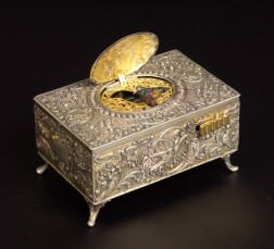 Silver Singing Bird Box Automaton