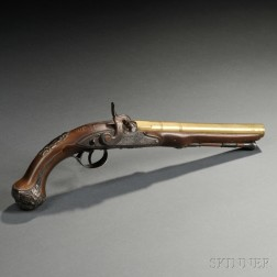 English Percussion Pistol by Brander