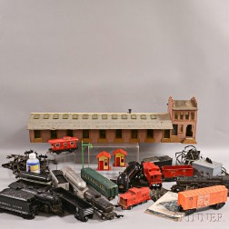 Group of American Flyer Trains and Accessories