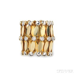 18kt Gold and Diamond Convertible Ring/Bracelet