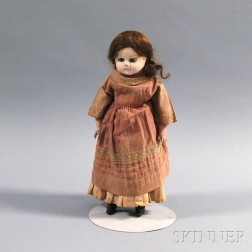 Papier-mache Shoulder Head Girl Doll
