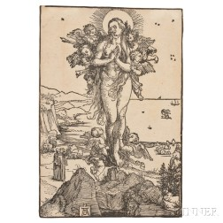 Albrecht Dürer (German, 1471-1528)      The Elevation of Saint Mary Magdalen