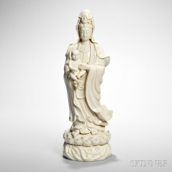 Blanc-de-chine Figure of Guanyin