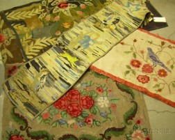 Four Hooked Rugs