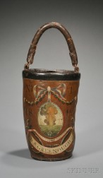 David Stoddard Greenough, Jr.'s Paint-decorated Leather Fire Bucket