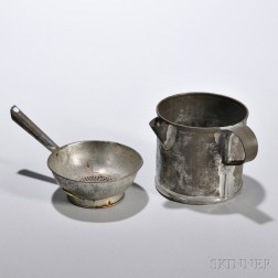 Shaker Tin Spout Cup and Strainer