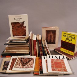 Large Collection of Rug-related Books and Magazines