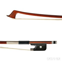 Nickel Silver-mounted Cello Bow, Ascribed to Bausch