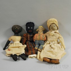 Four Cloth Dolls