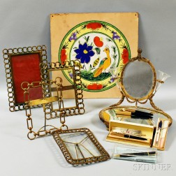 Group of Desk Accessories and Pens.     Estimate $200-400
