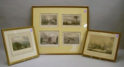 Six Framed Works in Three Frames