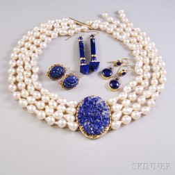 Small Group of Lapis Jewelry