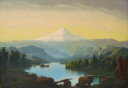 William Samuel Parrott (American, 1843-1915)      Mount Hood from Clear Lake.