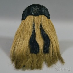Leather and Goat Hair Sporran