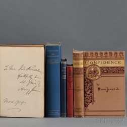 James, Henry (1843-1916) Five Titles, First and Early Editions, Some Signed Copies.
