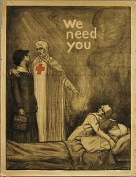 Albert Steiner We Need You   Red Cross WWI Lithograph Poster
