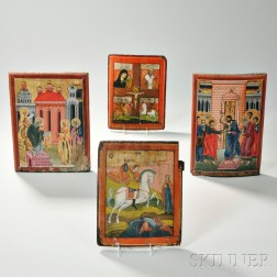 Four Painted Icons