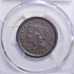 1846 Small Date Braided Hair Cent