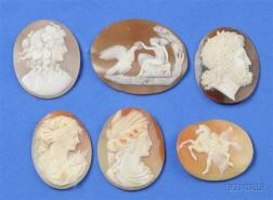 A Collection of Twenty-one Unmounted Shell Cameos