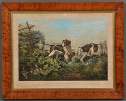 """Currier & Ives, publishers (American, 1857-1907)      AMERICAN FIELD SPORTS. """"On a Point.,"""""""