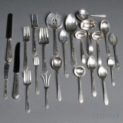 Lunt William and Mary   Pattern Sterling Silver Flatware Service