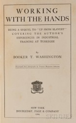 Washington, Booker T. (1856-1915) Working with the Hands  , with Typed Letter Signed.