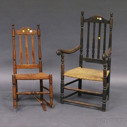 Two Bannister Back Chairs