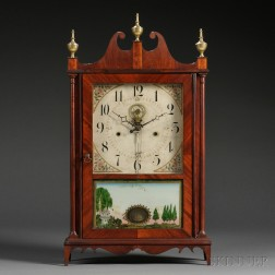 Eli Terry Outside Escapement Pillar and Scroll Clock