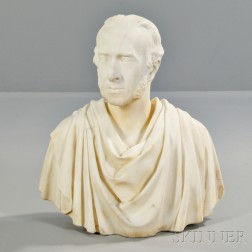 Neoclassical-style Marble Bust of a Man