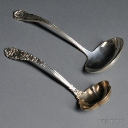 Two American Sterling Silver Ladles