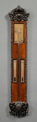 French Rosewood Stick Barometer
