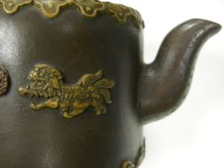 Yixing Teapot with Raised Lion Design