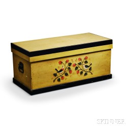 Paint-decorated Blanket Box