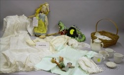 Childs Ironstone Tea Set, an Assortment of Early 20th Century Childrens Clothing, and a Group of Assorted Han...