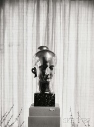 Minor White (American, 1908-1976) Untitled (Elie Nadelman Sculpture on Display in the Home of James Sibley Watson, Rochester, New York)