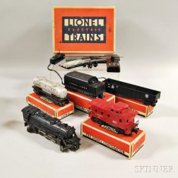 Lionel Train Freight Set #1463W and a #022 O-gauge Switch