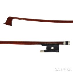 French Nickel-mounted Violin Bow, Pierre Cuniot