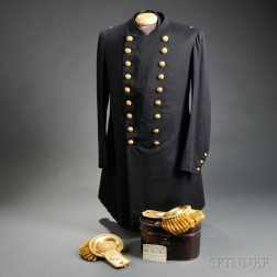 Paymaster's Uniform Coat, Vest, and Dress Epaulettes