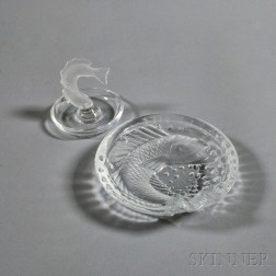 "Lalique ""Concarneau"" Ashtray and ""Goujon"" Jewelry Tray"