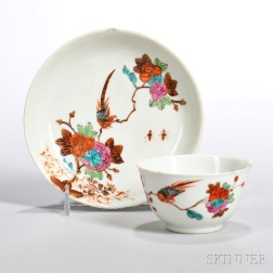 Export Enameled Porcelain Cup with Saucer