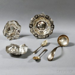 Six Sterling Silver Items