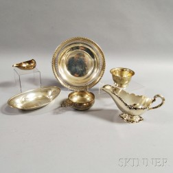 Six Sterling Silver Tableware Items