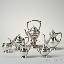 Six-piece Alvin Sterling Silver Tea and Coffee Service