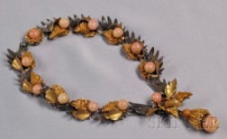 Rare Prototype Orchid Necklace, Miriam Haskell