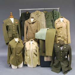 Group of Mostly WWII Engineer's Uniforms
