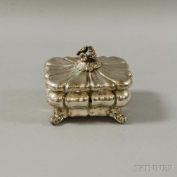 German Silver Pre-1886 Footed Tea Cannister